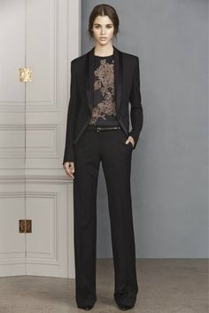Black trousers and blazer: chamber music or daytime/semi-formal concert with a black top.