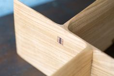 Beautfiful wedged mortise and tenon by Sugimura Toru