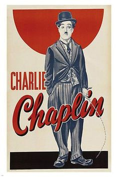CHARLIE chaplin AD poster MOUSTACHE hat 24X36 RASCAL exceptional COLLECTORS