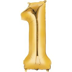 A Gold Number 1 Balloon is perfect for a glam party display! Combine this foil Gold Number 1 Balloon with other numbers for a graduation, birthday, New Year's Eve party, or anniversary.