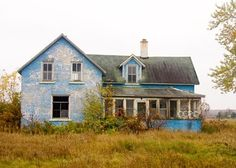 Blue House Rural Michigan...