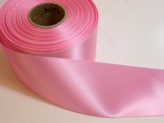 """Offray Pink Satin Ribbon 2 1/4"""" wide x 10 yards, Single Face, Baby Pink Ribbon #Offray"""