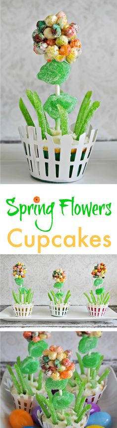 Trix Spring Flowers Cupcakes