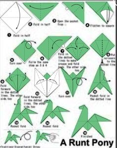 How to make an origami Runt pony