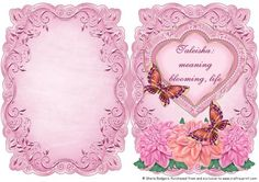 Name Meaning Card Taleisha on Craftsuprint - Add To Basket!