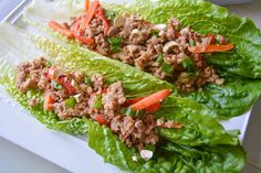 Lettuce cups are such a fun vessel to get creative with the fillings. The bright, crisp lettuce can take on pretty much any flavor combination you fill it with. While using Thai ingredient is far f…