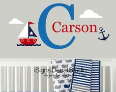 Personalized Name Decal Sailboat Name Decal by NewYorkVinyl