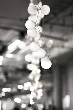 cluster of lights #black and #white #lights #bulbs