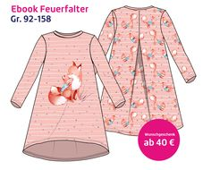 """New wish gift - dress pattern """"Feuerfalter"""" - with Neues Wunschgeschenk – Kleid Schnittmuster """"Feuerfalter"""" – mit Anleitung Baby Clothes Storage, Sewing Clothes, Diy Clothes, Clothes Patterns, Baby Outfits, Outfits For Teens, Vestido Baby Doll, Disney Baby Clothes, Wish Gifts"""