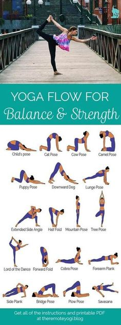 Yoga for Balance & Strength - this sequence designed to increase muscle strength and increase balance. This is a great way to keep the abs toned! Yoga Fitness, Fitness Workouts, Fitness Motivation, Health Fitness, Fitness Plan, Yoga Bewegungen, Yoga Pilates, Yin Yoga, Kundalini Yoga