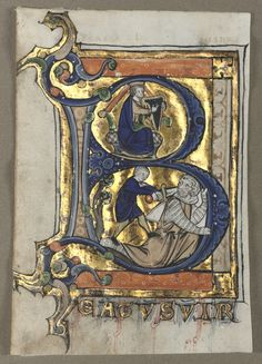 Leaf Excised from a Psalter: Initial B with King David | Cleveland Museum of Art