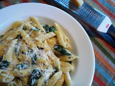 Quick and easy vegetarian pasta with spinach and ricotta cheese recipe. I really enjoyed slurping up this vegetarian pasta dish just as it is, and, for simplicity, you really can't beat this one-dish meal made with spinach, soymilk, ricotta cheese, olive oil and a bit of salt and pepper.