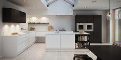 Lækkert køkken | Minimalistisk designerkøkken fra uno form