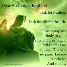 Numerology Spirituality - Dear Archangel Raphael Get your personalized numerology reading Reiki, Angel Protector, Archangel Prayers, Archangel Raphael Prayer, Raphael Angel, St Raphael, Archangel Uriel, Archangel Michael, Angel Spirit