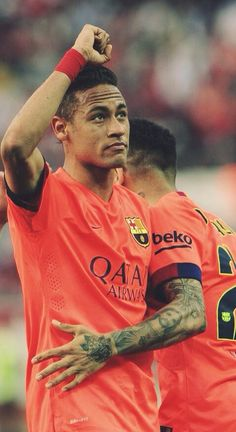 heartsoftruth: Neymar Jr. celebrating his goal against Sevilla. (11/04/'15)