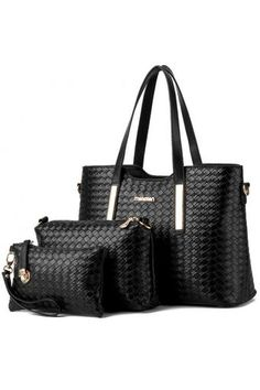Buy SoKaNo Trendz SKN819 Elegant Knitted PU Leather Bags (Set of 3)- Black online at Lazada. Discount prices and promotional sale on all. Free Shipping.