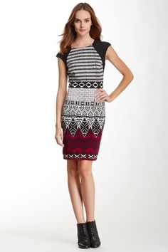 Maggy London Print Sheath Dress by Maggy London on @HauteLook