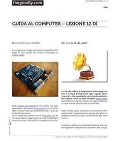 Lezione 12 (PDF) - LA SCHEDA AUDIO. Vuoi ascoltare i suoni che escono da un Computer? Non puoi fare a meno di questo dispositivo.