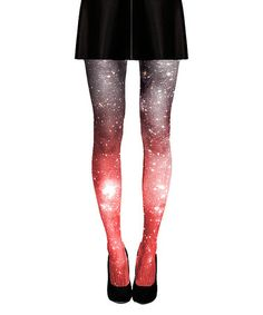 This Crimson Galaxy Tights by Shadowplaynyc is perfect! #zulilyfinds