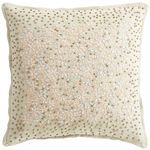 Romantic Glam Beaded Floral Pillow