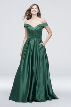 408087bddfc6 Pleated Off-the-Shoulder Lapel Ball Gown Style J68789