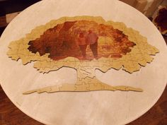Oak Tree Wood Puzzle Guest Book - No / Yes (Include via email)