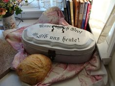 Antique German Bread Box