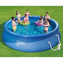 Banzai aqua drench 3-in-1 inflatable splash park red head