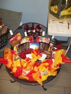 Lottery ticket raffle or silent auction basket cute idea for golf gift baskets making use of fabricated indoor putting green at your home you can get additional details at the image link negle Images