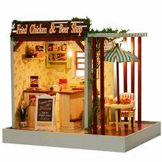 Cuteroom Dollhouse DIY Kit Light Music Coupon code: 8dollhos