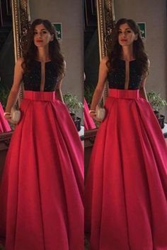 Modest Red Beading Long A-line Satin Prom Dresses Evening Dresses Party Dresses Prom Dresses, Custom Made Prom Dresses, Modest Evening Dress, Cheap Prom Dresses, Prom Dresses Red Prom Dresses 2019 Modest Prom Gowns, A Line Prom Dresses, Cheap Prom Dresses, Party Dresses, Dress Prom, Girls Dresses, Bridesmaid Dresses, Ball Gowns Evening, Evening Dresses