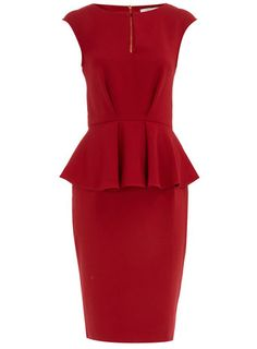 $79 Peep front peplam dress by Dorothy Perkins