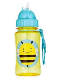 """Zoo Straw Bottle Bee – This Zoo Straw Bottle helps ease this transition by giving little ones a """"big-kid cup"""" with the protection of a flip-top lid. Available at www.babycompany.co.uk"""