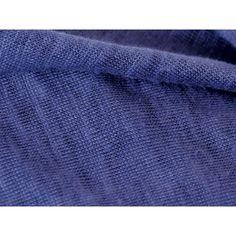 Lin bio de Normandie :  jersey de lin marine