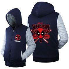 Deadpool Super Warm Thicken Fleece Zip Up Hoodie