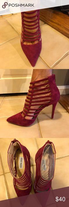 🆕Steve Madden Burgundy Caged Heels - Prowler Brand New Steve Madden Burgundy / Magenta Caged Heels 4 inches. Steve Madden Shoes Heels