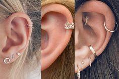 48 modelos de piercing na orelha para você se apaixonar Tragus Piercings, Smiley Piercing, Piercing Tattoo, Cute Ear Piercings, Navel Piercing, Cartilage Earrings, Body Piercing, Ring Earrings, Cute Jewelry
