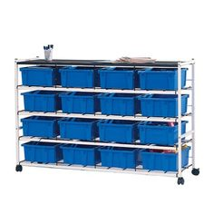 love the airy metal and the bright color. could be good for storing tools, supplies like light bulbs etc and have space on front for a label or for the mudroom to tie in with the colors used in garage