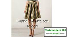 Gonna svasata con faldoni - Cartamodelli 101 con Maria Luisa
