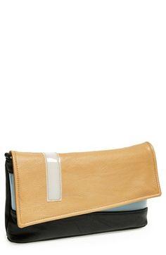 Colorblock flap clutch