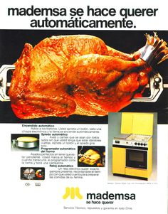 Publicidad de la cocina Mademsa, Chile año 1981 Chile, Childhood, Advertising, Antigua, Cuisine, Infancy, Chili Powder, Chilis, Early Childhood