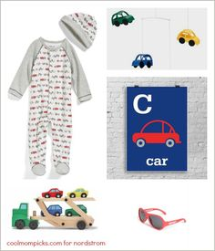 car themed baby gift set ideas
