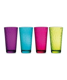Another great find on #zulily! Hammered Glass - Set of Four #zulilyfinds