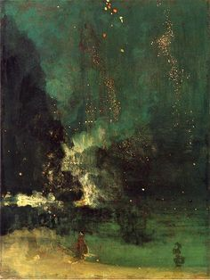 James Abbott McNeill Whistler, Nocturne in Black and Gold (The Falling Rocket), 1875