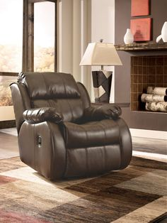 Lugar Bonded Leather Rocker Recliner | Dock86 | Spend a Good Deal Less on Furniture in Minneapolis and St. Paul MN Area