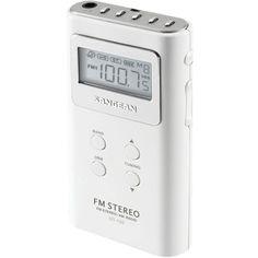 Sangean Pocket Am And Fm Digital Radios (white)