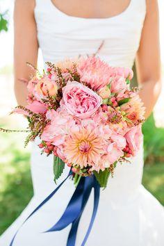 Coral & Navy Wedding Photos by Cherie Mariko Photography