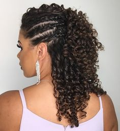 Curly Crochet Hair Styles, Curly Hair Styles, Natural Hair Styles, Really Curly Hair, Curly Hair Cuts, Curly Wedding Hair, Long Natural Hair, Braids For Black Hair, Hair Highlights