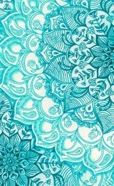 Teal Henna #Wallpaper
