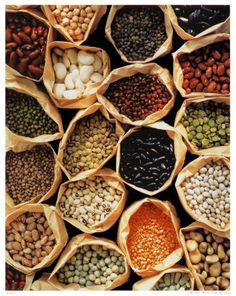 Beans are a great source of protein for healthy shining hair. Beans contains B6, folic acid, and the minerals sulfur, zinc, magnesium.